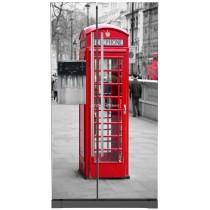 Sticker frigo américain électroménager déco Cabine téléphonique anglaise