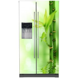Sticker frigo américain électroménager déco Bambous