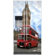 Sticker frigo américain électroménager déco Londres bus