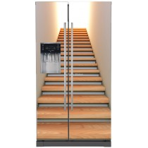 Sticker frigo américain électroménager déco Escalier