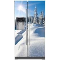 Sticker frigo américain électroménager déco Montagne
