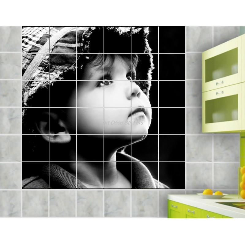 Sticker carrelage mural d co enfant art d co stickers for Stickers cuisine enfant