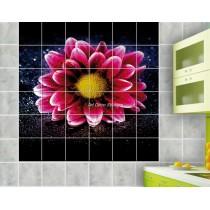 Sticker carrelage mural déco Fleur