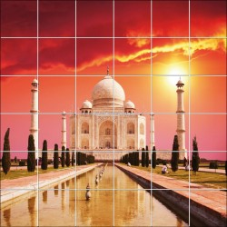 Sticker carrelage mural déco Taj Mahal