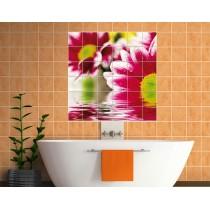 Sticker carrelage mural déco Fleurs