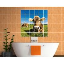 Stickers carrelage mural déco Vache