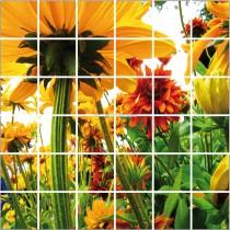 Stickers carrelage mural déco Fleurs