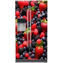 Sticker frigo américain électroménager déco cuisine Fruits
