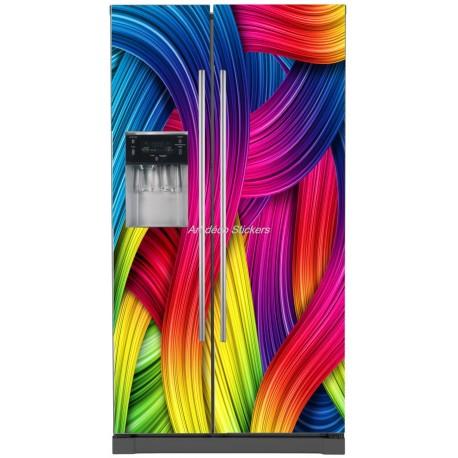 Sticker frigo américain électroménager déco cuisine Couleurs