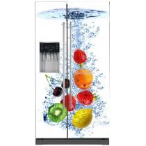 Sticker frigo américain déco cuisine Fruits