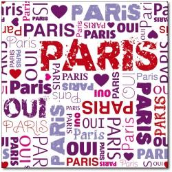 Stickers boites aux lettres déco Paris 30x30cm