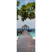 Affiche poster format porte trompe l'oeil Maldives