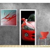 Affiche poster pour porte trompe l'oeil Ferrari