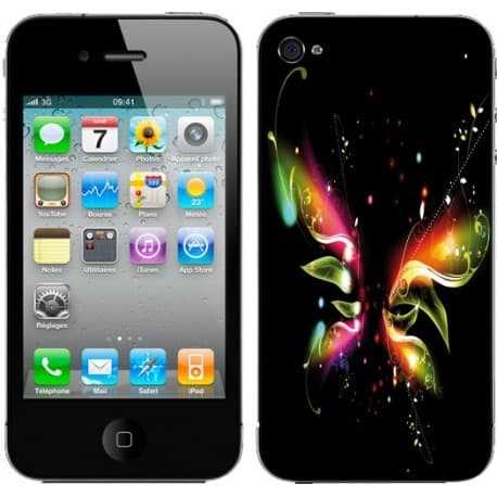 Sticker Autocollant Iphone4 Papillon