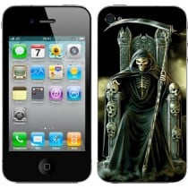 Sticker Autocollant Iphone4 Skull