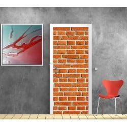 Affiche poster pour porte trompe l'oeil Mur de briques