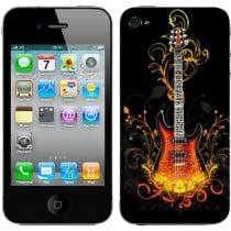 Sticker Autocollant Iphone4 Guitare