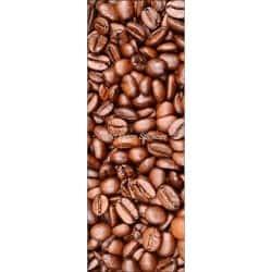 Affiche poster pour porte trompe l'oeil Grain de café