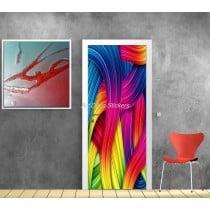 Affiche poster pour porte trompe l'oeil Multicolor