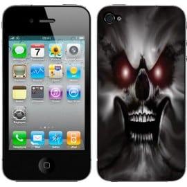 Sticker Autocollant Iphone4 Skull