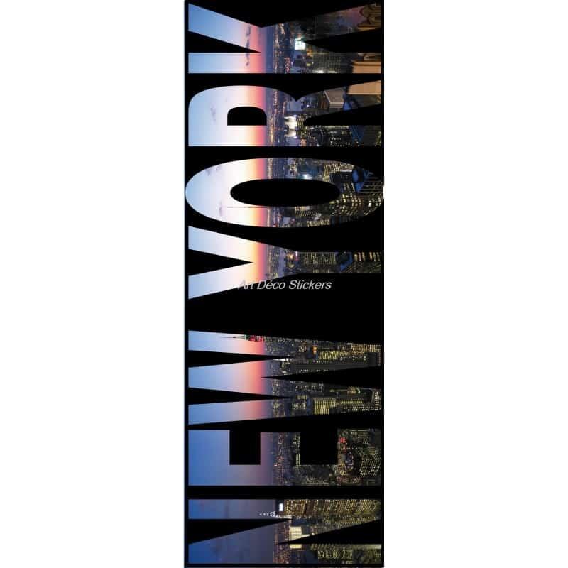 Affiche poster pour porte trompe l 39 oeil new york art d co stickers for Poster de porte new york
