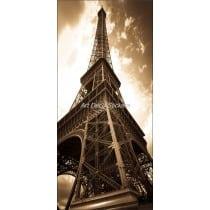 Affiche poster de porte trompe l'oeil Tour Eiffel