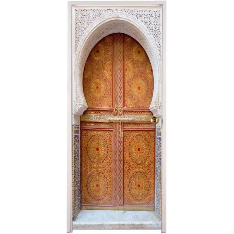 Affiche poster de porte trompe l 39 oeil porte orientale for Trompe l oeil pour porte