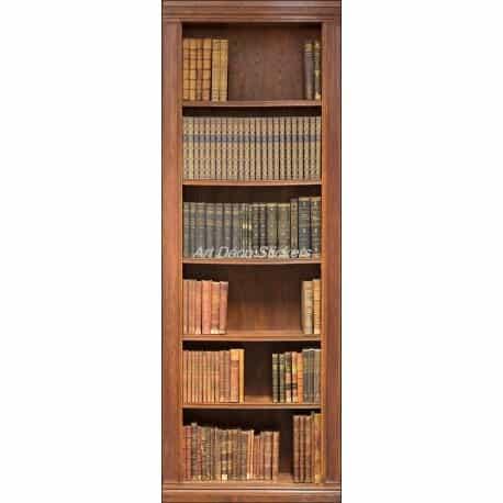 Affiche poster de porte trompe l 39 oeil biblioth que art d co stickers - Poster trompe l oeil pour porte ...