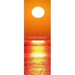 Affiche poster format porte trompe l'oeil Couché de soleil