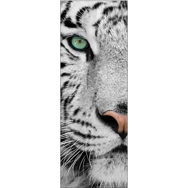 affiche poster format porte trompe l 39 oeil tigre art d co stickers. Black Bedroom Furniture Sets. Home Design Ideas