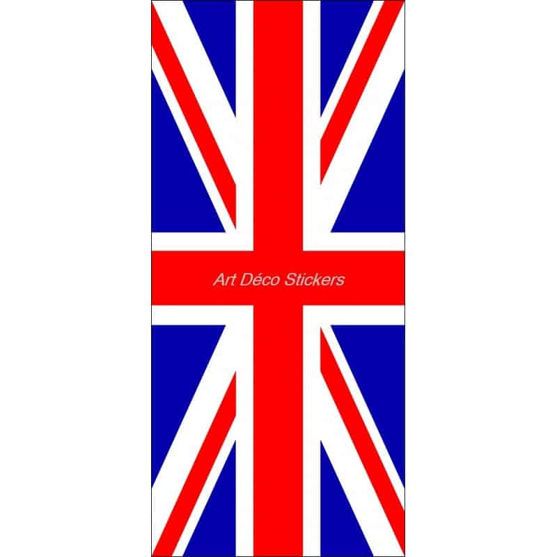 affiche poster format porte d co drapeau anglais union jack art d co stickers. Black Bedroom Furniture Sets. Home Design Ideas