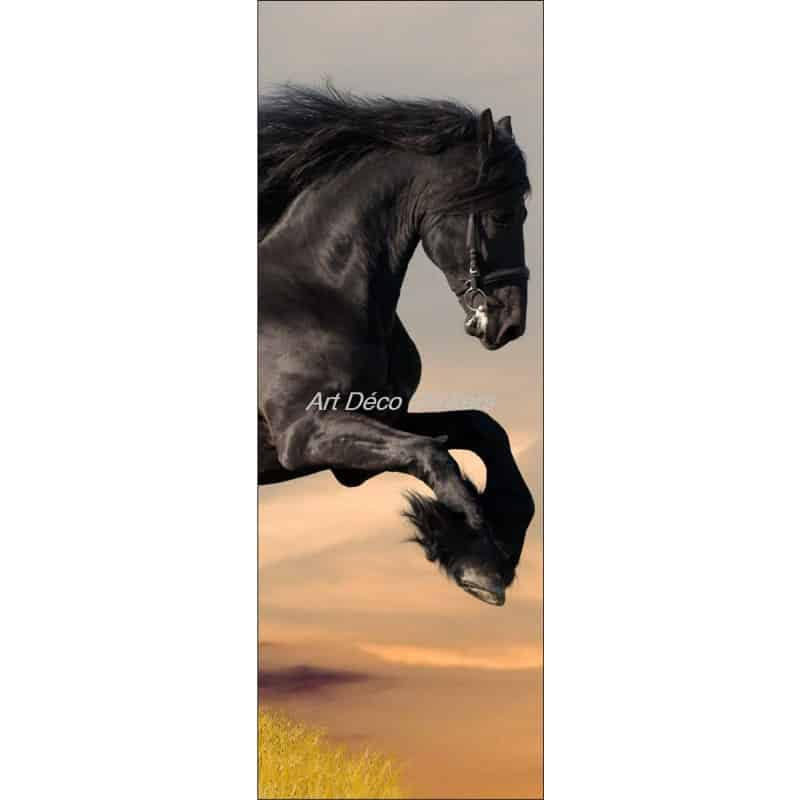 Affiche poster format porte d co cheval art d co stickers for Format porte