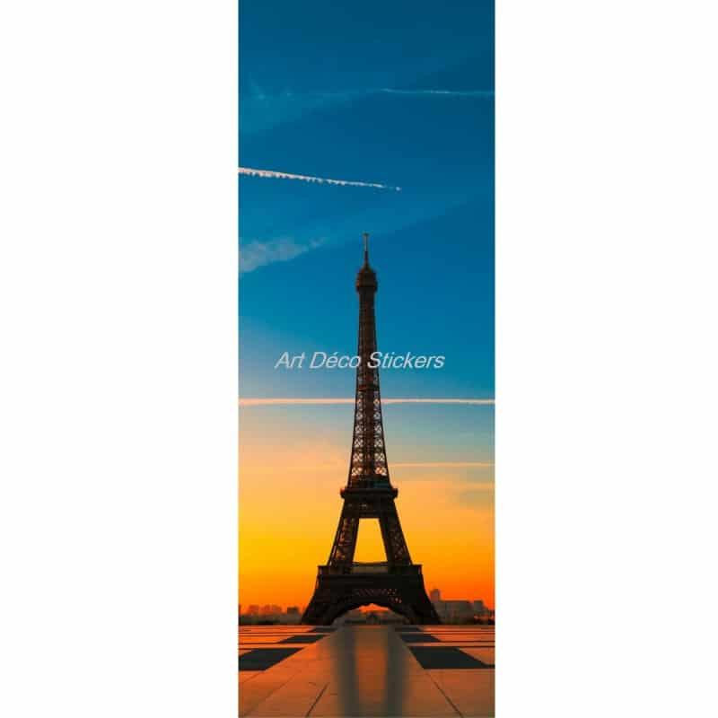 Affiche poster format porte d co tour eiffel art d co stickers - Poster tour eiffel ...