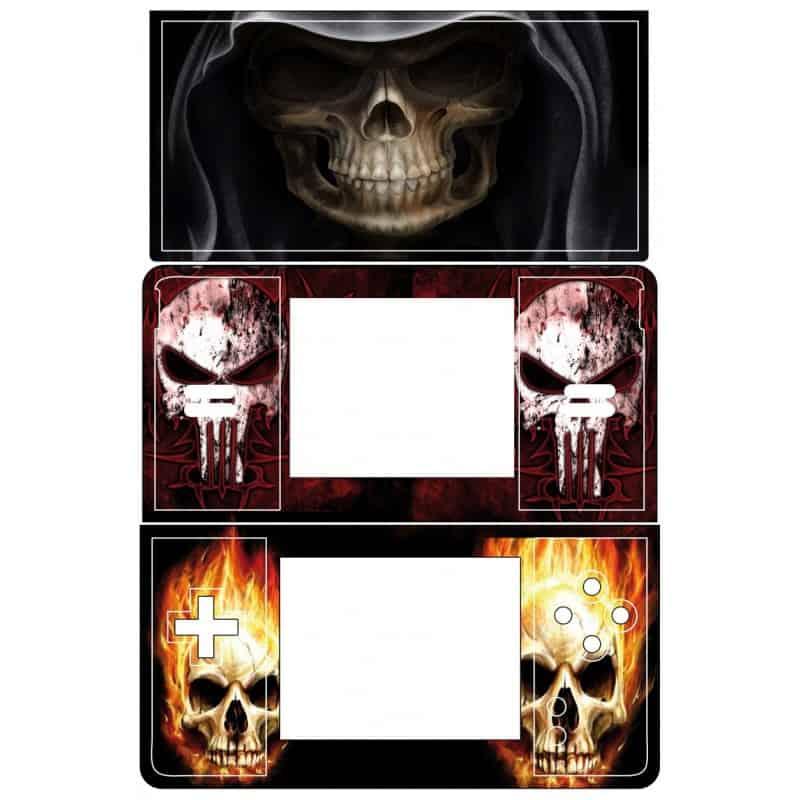 Sticker autocollant ds skull art d co stickers for Deco autocollant mural