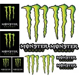 Stickers autocollants Moto Monster Energy