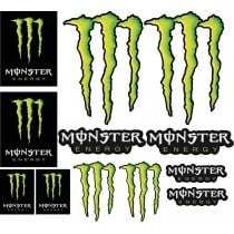 12 Stickers autocollants Monster Energy