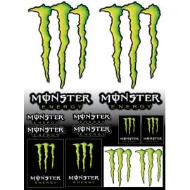 Stickers autocollants pour Moto Monster Energy