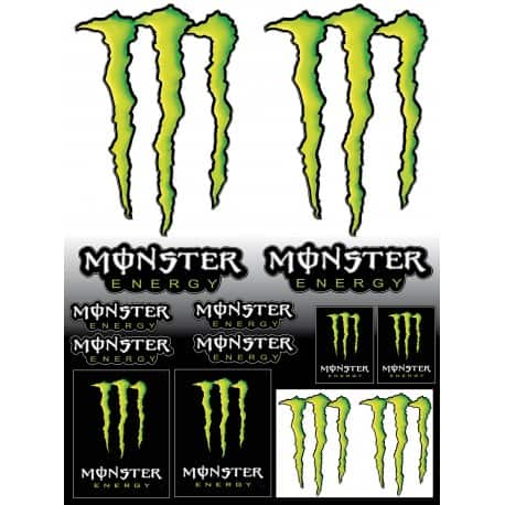 14 Stickers autocollants Monster Energy