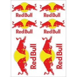 Stickers Red Bull Autocollants Moto Red Bull