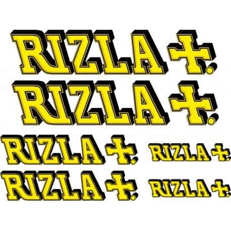 6 Stickers Autocollants RIZLA