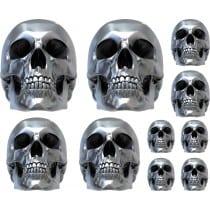 10 stickers autocollants Skul effet 3D