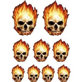 9 stickers autocollants Skull