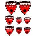 8 stickers autocollants Moto Ducati