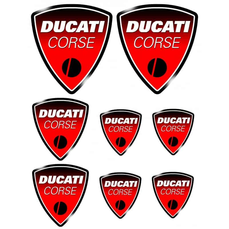 8 stickers autocollants moto ducati art d co stickers. Black Bedroom Furniture Sets. Home Design Ideas