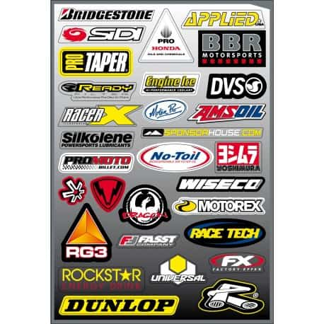 30 stickers autocollants Moto FX5