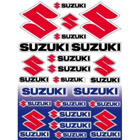 22 Stickers Autocollants moto Suzuki