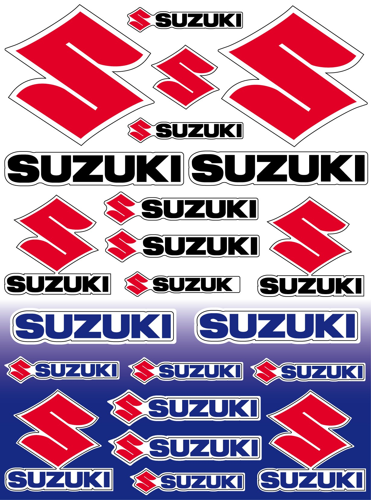 22 stickers autocollants moto suzuki sticker suzuki art déco stickers
