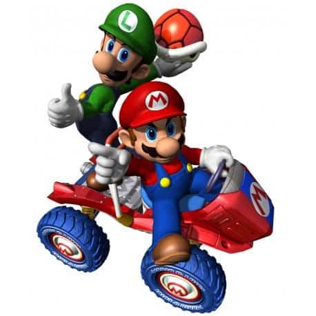sticker Autocollant Mario en Voiture