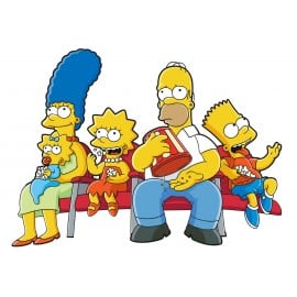 Sticker Autocollant enfant Famille Simpsons