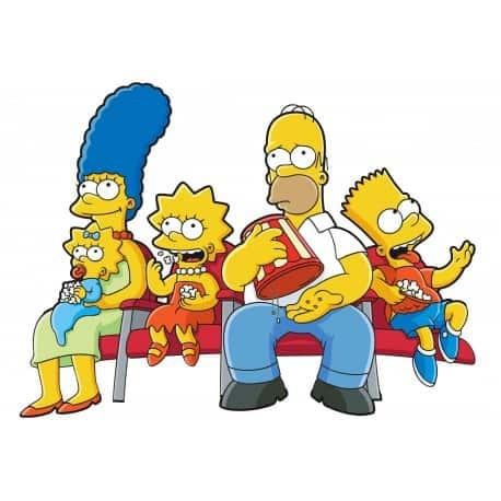 sticker Autocollant Famille Simpsons
